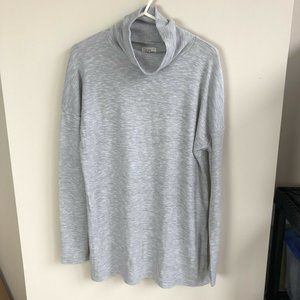 J. Crew Turtleneck Tunic Top In Space Dyed Jersey